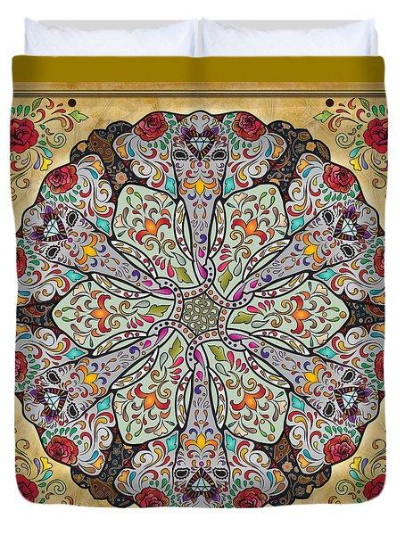 Mandala Elephants Duvet Cover