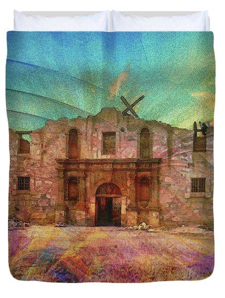 John Wayne's Alamo Duvet Cover by John Robert Beck