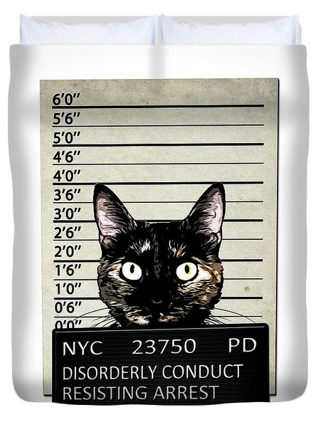 Kitty Mugshot Duvet Cover