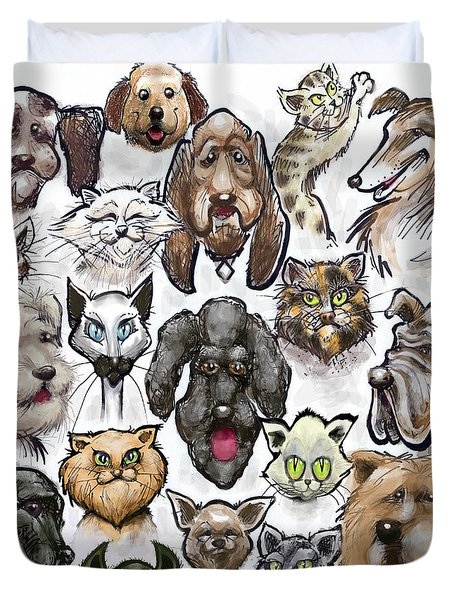 Cats N Dogs Duvet Cover