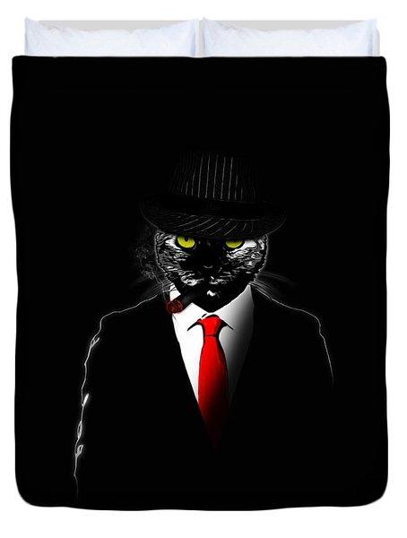 Mobster Cat Duvet Cover