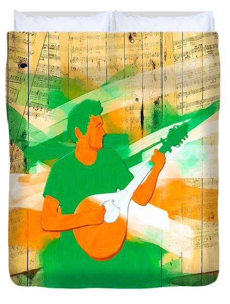 Memories Of Irish Music Duvet Cover