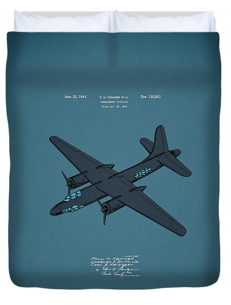 Airplane Patent 1943 Duvet Cover