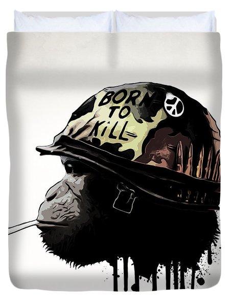 Born To Kill Duvet Cover by Nicklas Gustafsson