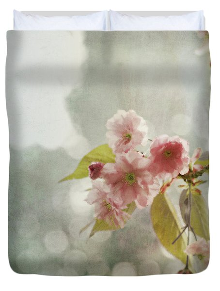 Duvet Cover featuring the photograph Twilight In The Garden by Brooke T Ryan