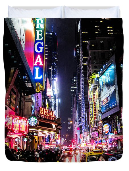 New York City Night Duvet Cover by Nicklas Gustafsson