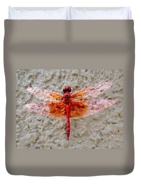 Flame Dragonfly  Duvet Cover