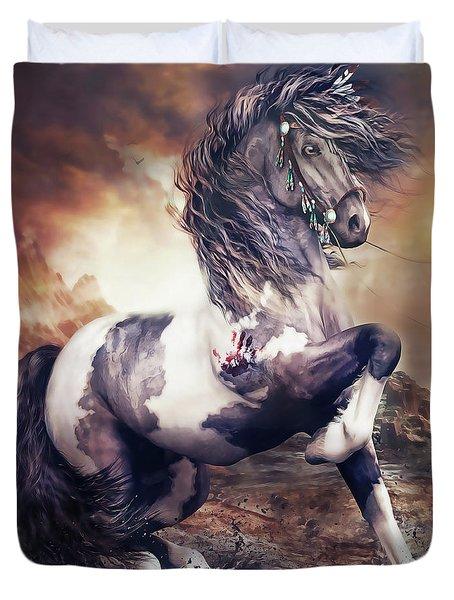 Apache War Horse Duvet Cover