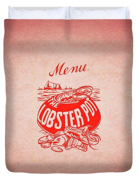 The Lobster Pot 1960s Duvet Cover