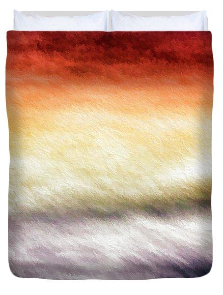 Palette In The Sky Duvet Cover by Bill Kesler