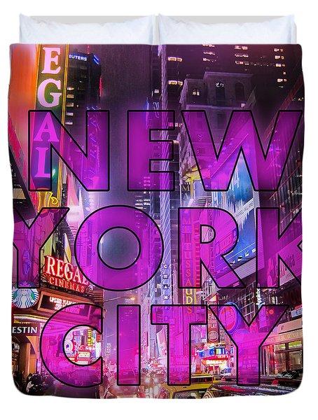 New York City - Color Duvet Cover