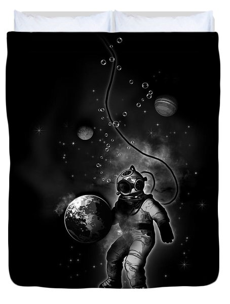 Deep Sea Space Diver Duvet Cover