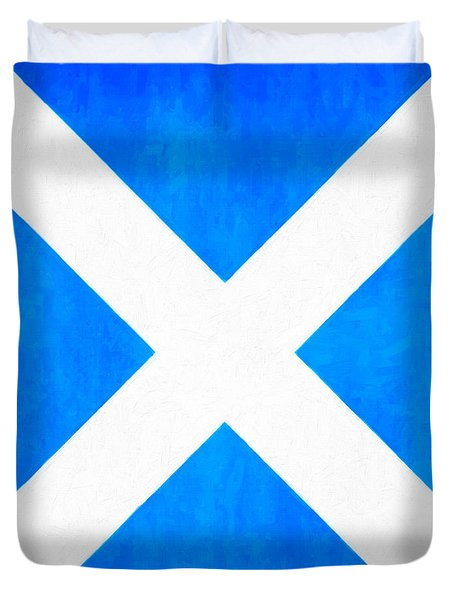 The Saltire - Scotland's National Flag Duvet Cover by Mark E Tisdale