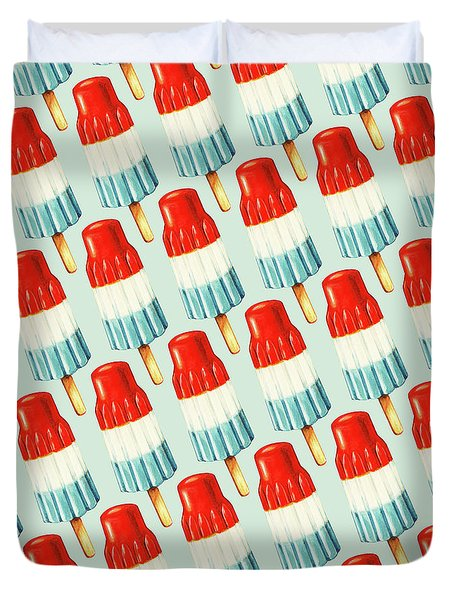 Bomb Pop Pattern Duvet Cover by Kelly Gilleran
