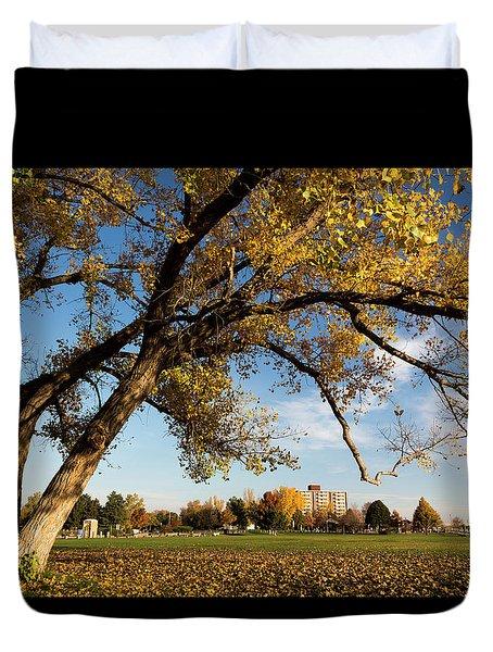 Soccer Tree Duvet Cover