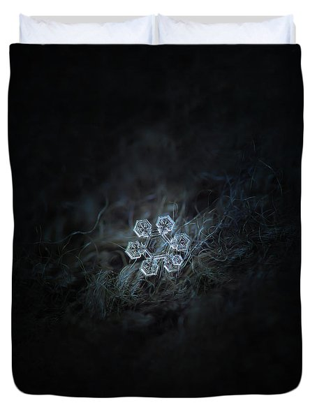 Duvet Cover featuring the photograph Icy Jewel by Alexey Kljatov