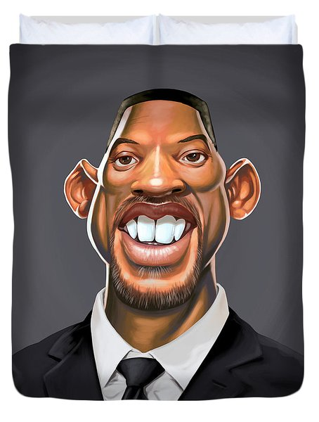 Celebrity Sunday - Will Smith Duvet Cover by Rob Snow