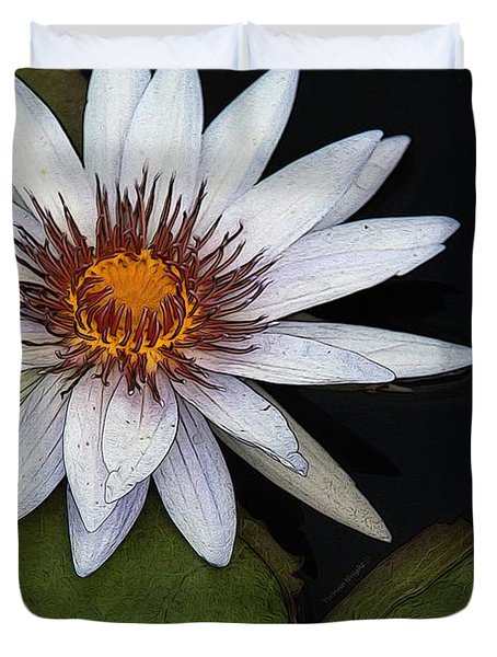 White Water Lily Duvet Cover by Yvonne Wright