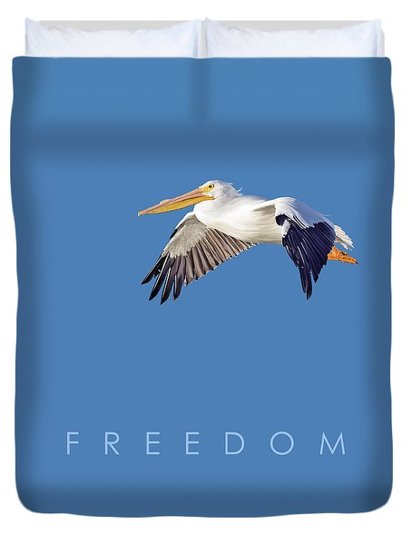 Duvet Cover featuring the digital art Blue Series 003 Freedom by Rob Snow
