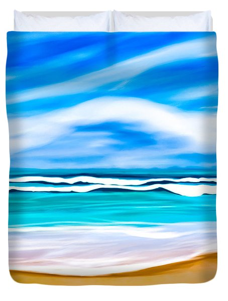 Tropical Beach Dreams - Caribbean Sea Duvet Cover by Mark E Tisdale