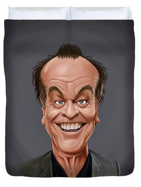 Celebrity Sunday - Jack Nicholson Duvet Cover