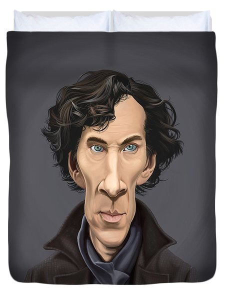 Celebrity Sunday - Benedict Cumberbatch Duvet Cover by Rob Snow