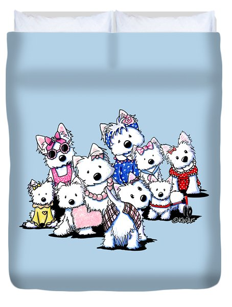 International Westie Women Duvet Cover