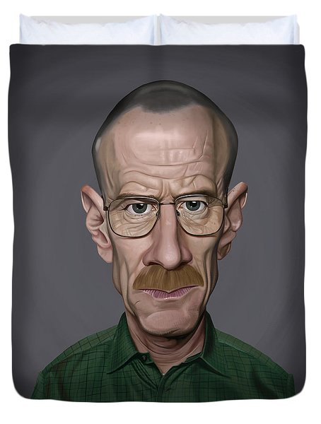 Celebrity Sunday - Bryan Cranston Duvet Cover