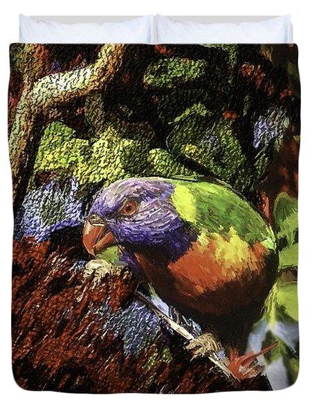 The Rainbow Lorikeet Duvet Cover