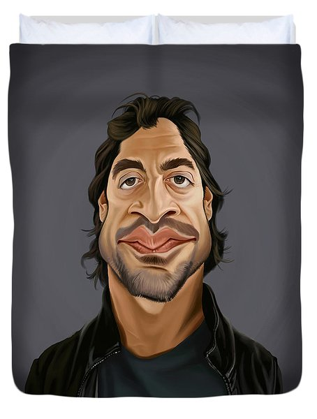 Celebrity Sunday - Javier Bardem Duvet Cover