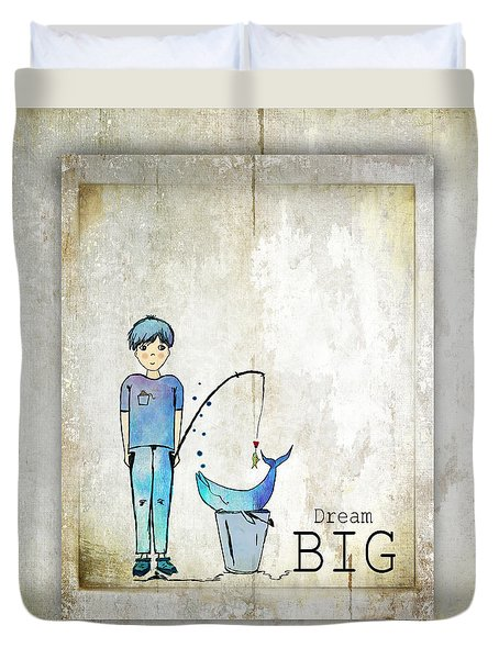 Dream Big Whale In Bucket Ginkelmier Duvet Cover