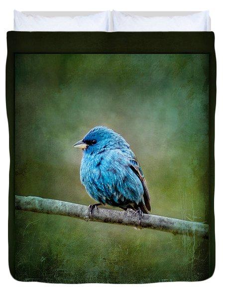 Bird In Blue Indigo Bunting Ginkelmier Inspired Duvet Cover