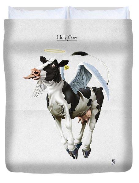 Holy Cow Duvet Cover by Rob Snow