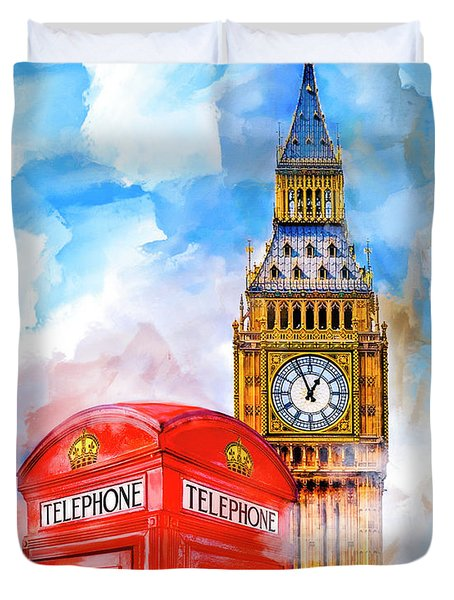 London Dreaming Duvet Cover by Mark E Tisdale