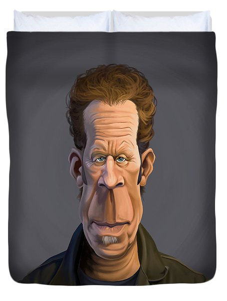 Celebrity Sunday - Tom Waits Duvet Cover