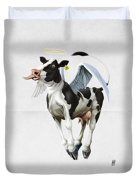 Holy Cow Wordless Duvet Cover