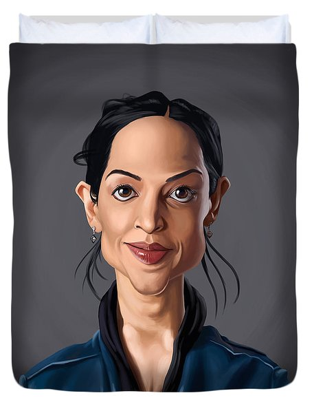 Celebrity Sunday - Archie Panjabi Duvet Cover by Rob Snow