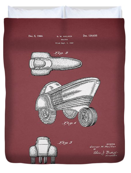 Tractor Patent 1944 Duvet Cover