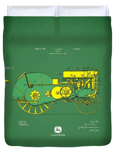 John Deere Tractor Patent Duvet Cover