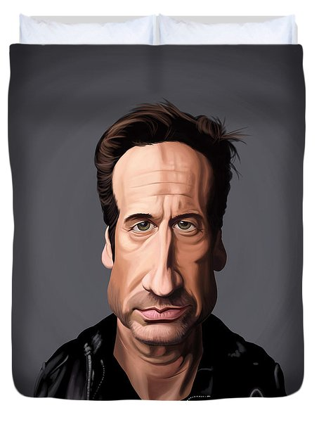 Celebrity Sunday - David Duchovny Duvet Cover