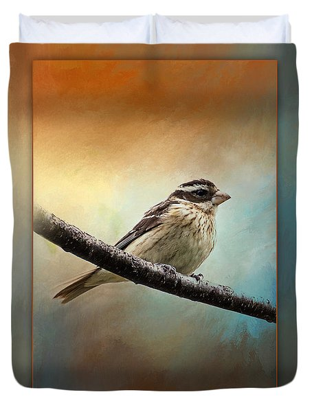 Wisconsin Songbird Duvet Cover