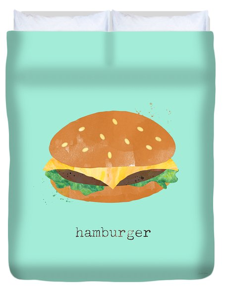 Hamburger Duvet Cover by Linda Woods