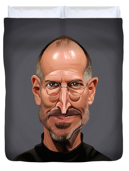 Celebrity Sunday - Steve Jobs Duvet Cover