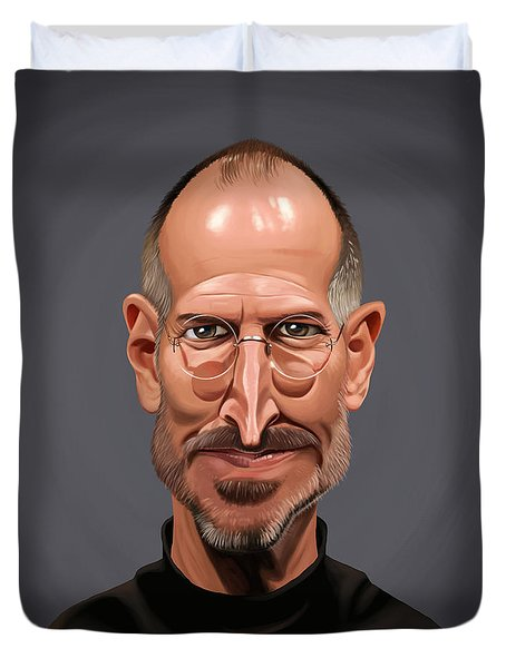 Celebrity Sunday - Steve Jobs Duvet Cover by Rob Snow