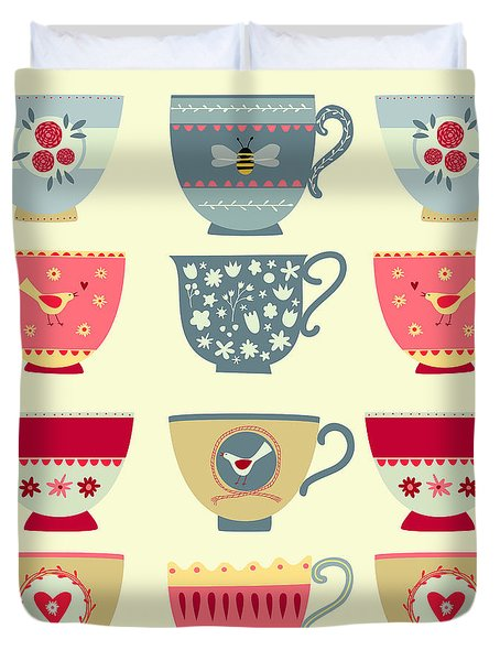 Tea Cups Duvet Cover