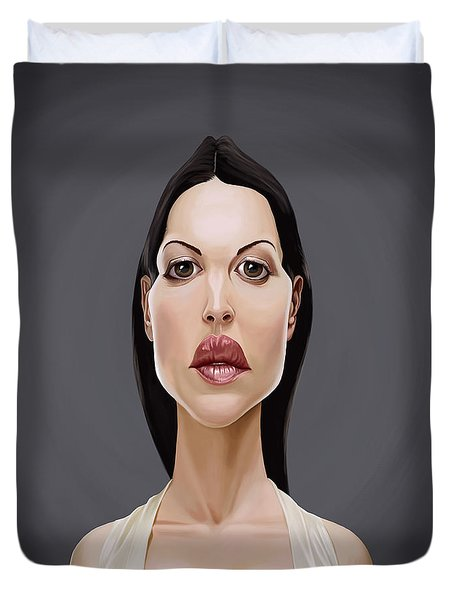 Celebrity Sunday - Monica Bellucci Duvet Cover by Rob Snow