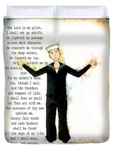 Sailor's Prayer Duvet Cover