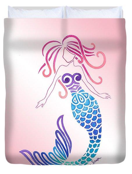 Tribal Mermaid Duvet Cover