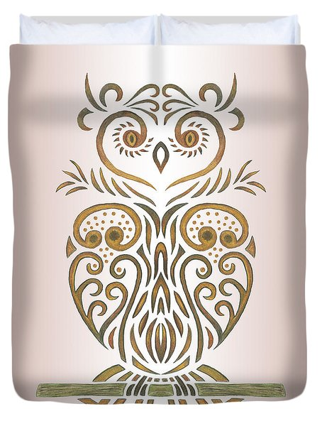 Tribal Owl Duvet Cover