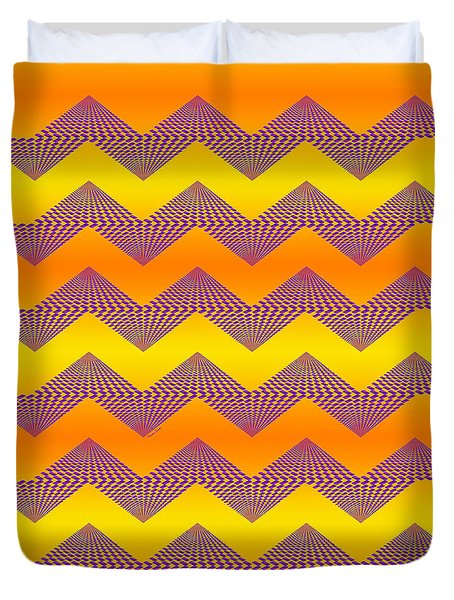Purple Mountains Duvet Cover